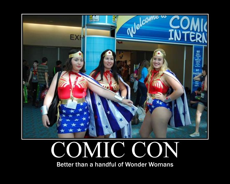 Comic Con Cosplay Motivational Poster
