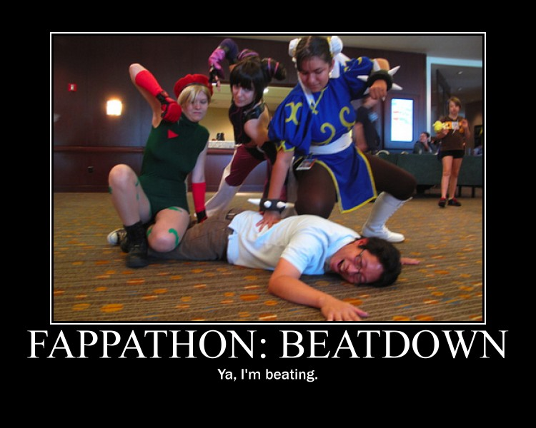 Fappathon - Beatdown - Motivational Poster