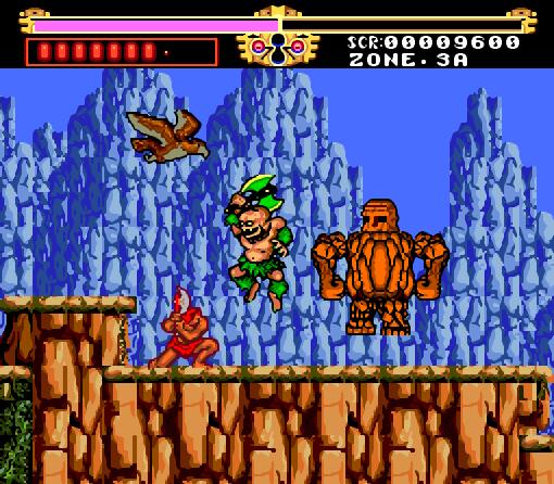 Legendary axe - turbo graphix 16 - gameplay screenshot