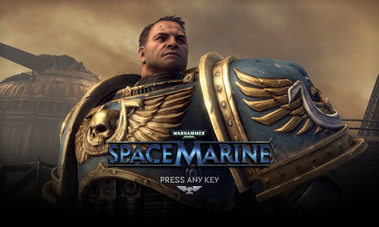 Warhammer 40K Space Marine title screen