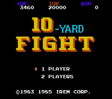 10 Yard Fight - Title Screen