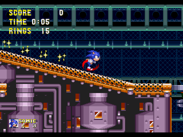 Sonic the Hedgehog - Sega Genesis - Gameplay Screenshot