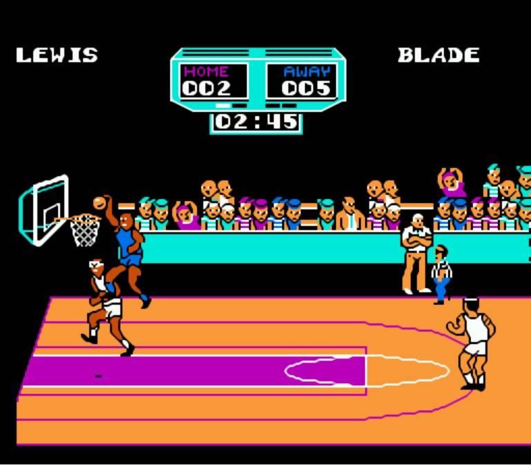 Arch Rivals - NES - Gameplay Screenshot