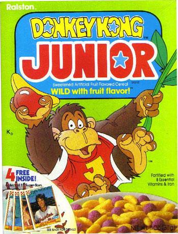 Donkey Kong Jr cereal