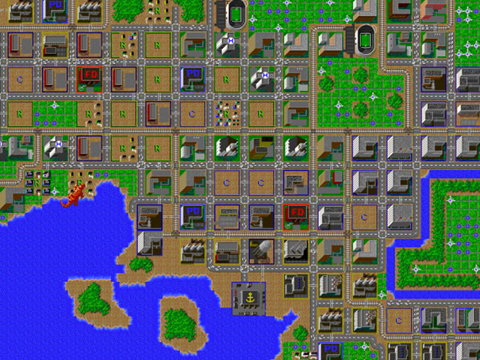 Sim City - Amgia - Gameplay Screenshot -