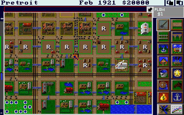Sim City - Amgia - Gameplay Screenshot -