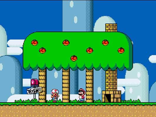 Super Mario World - SNES - Gameplay Screenshot- 3