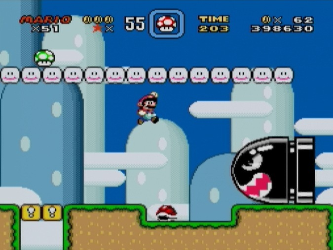 Super Mario World - SNES - Gameplay Screenshot- 4