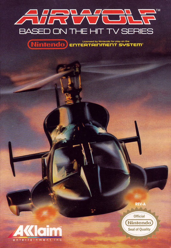Airwolf - Box - NES