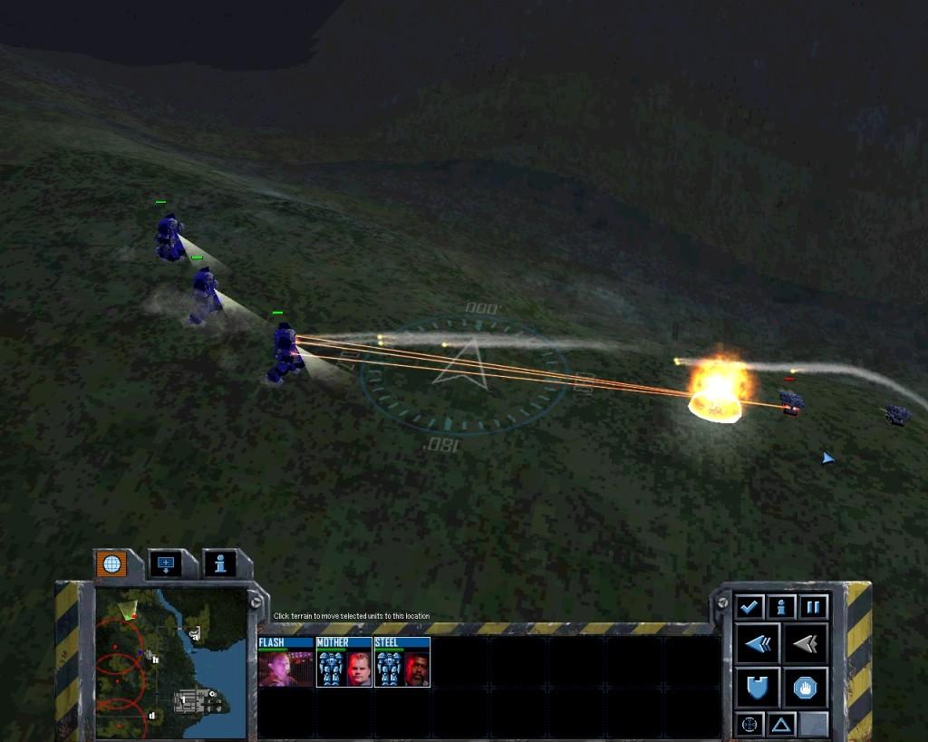Mech Commander 2 Atlas fighting