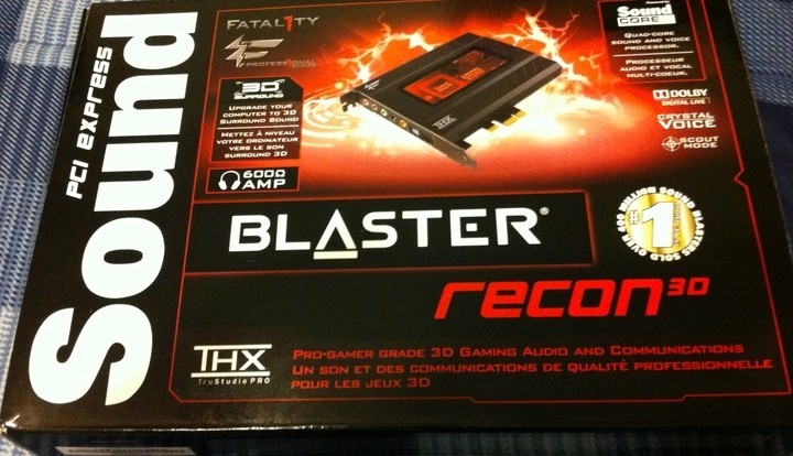 Sound Blaster Recon3D Fatal1ty Professional - Box