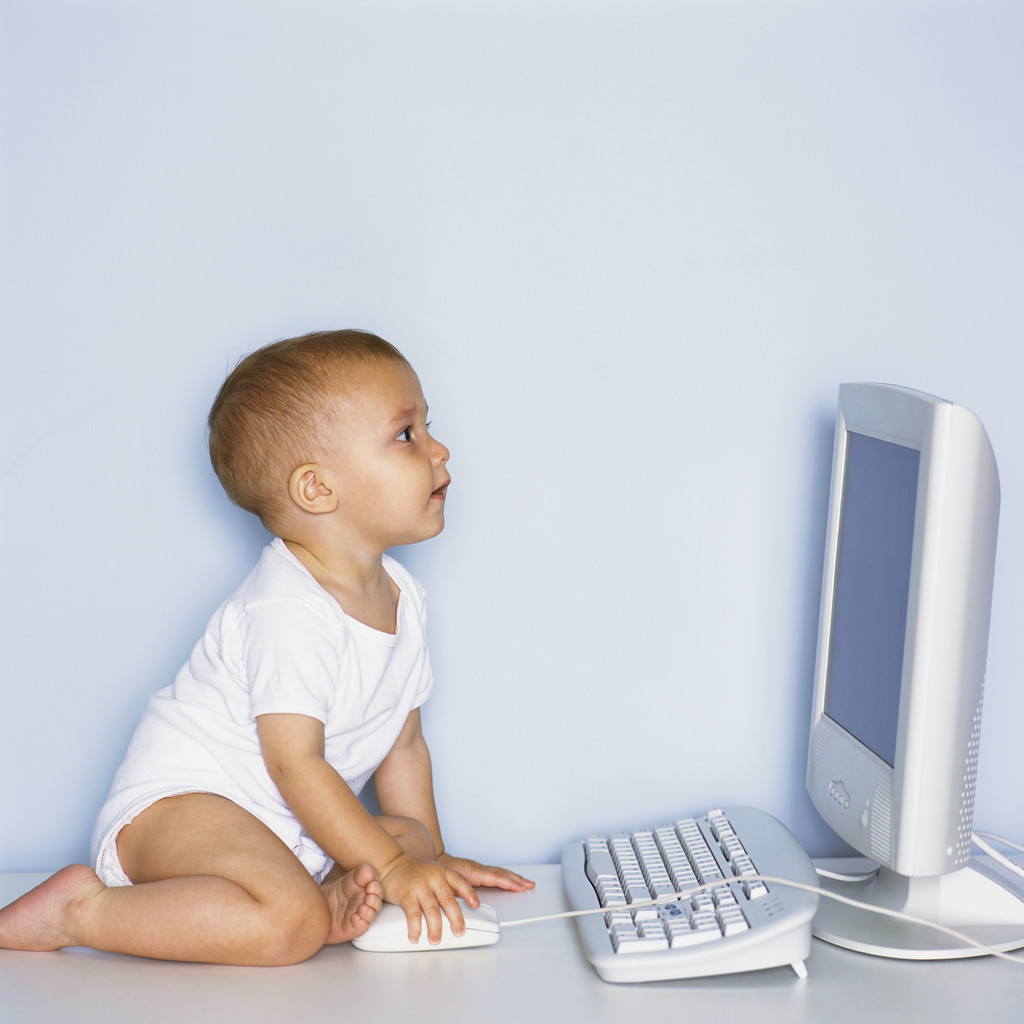 Baby Using Computer