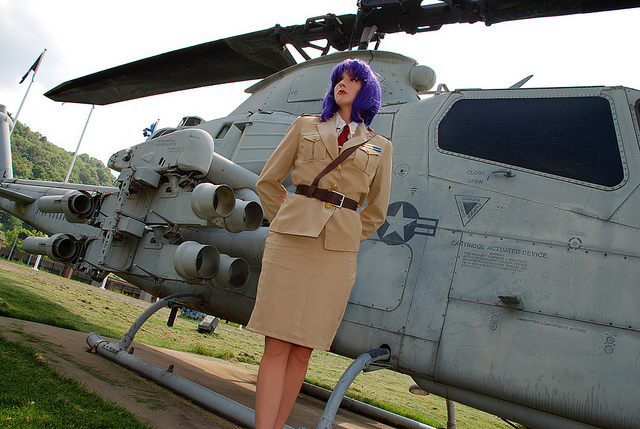 Military Cosplay Girl