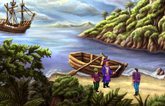 king's quest 3 redux boat