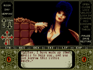 Elvira - Mistress of the Dark - PC - Gameplay Screenshot