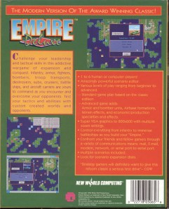 Rear box art for Empire Deluxe