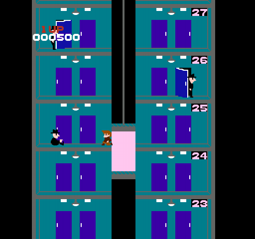 Elevator Action - NES - Taito - Gameplay Screenshot