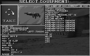 Equipment screen from Twilight 2000.
