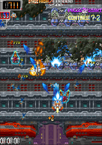 Dangun Feveron-arcade gameplay screenshot