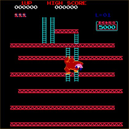 Donkey Kong - Arcade - Gameplay Screenshot