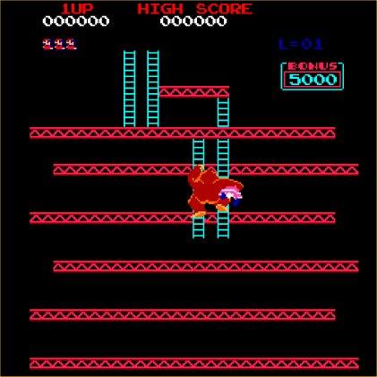 Donkey Kong - Arcade - Gameplay Screenshot