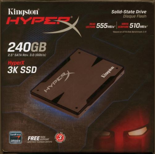 Kingston HyperX 3K Series 240GB SSD