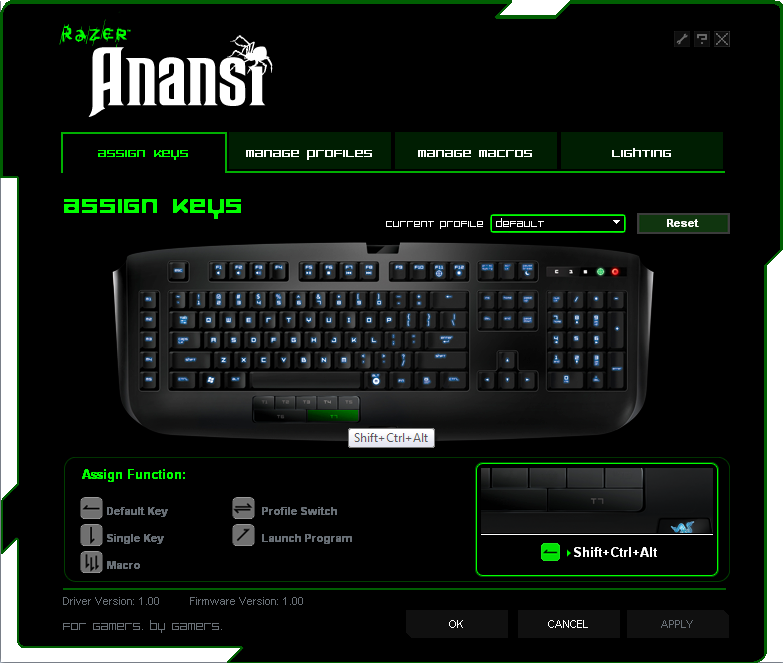 The Razer Anansi MMO Keyboard