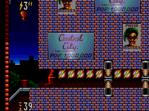 The Flash - Sega Master System - Gameplay Screenshot