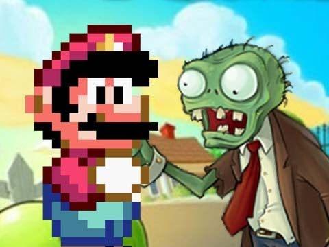 Video Game Mashups Mario vs Plants vs Zombies