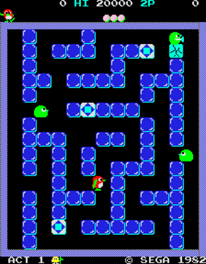 Pengo Gameplay screenshot