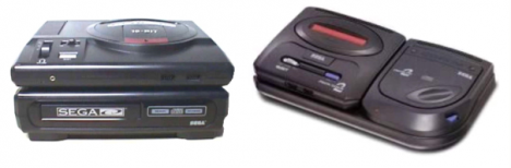 Sega CD Accessory - Top and Side Mounts