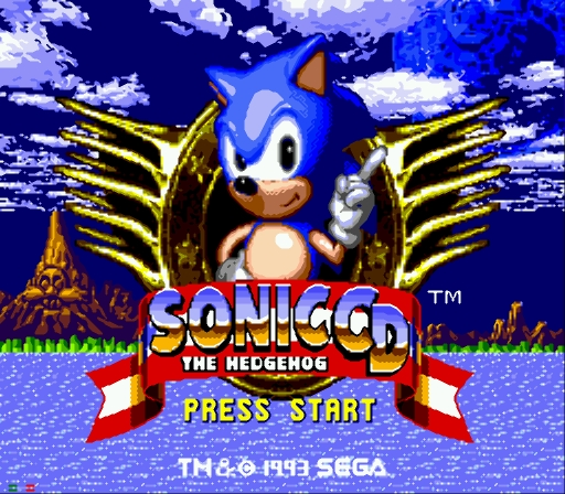 Sonic CD - Main Screen