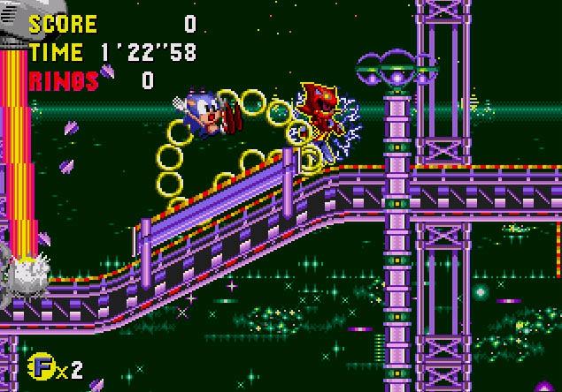 Sonic CD - Main Screen