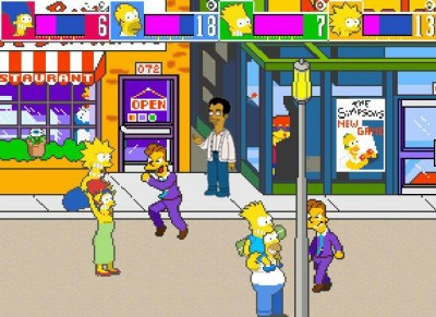 The Simpsons Arcade Game - Gameplay Screenshot