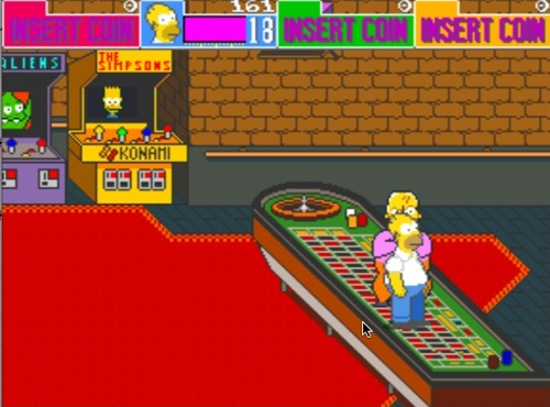The Simpsons Arcade Game - Gameplay Screenshot