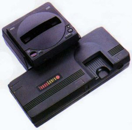 TurboGrafx-16 with the TurboCD attachment