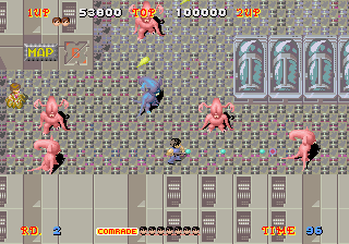 Alien Syndrome-sega-arcade-gameplay-screenshot