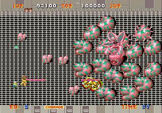 Alien Syndrome-sega-arcade-gameplay-screenshot