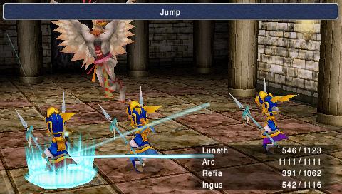 Final Fantasy 3 - gameplay screenshot