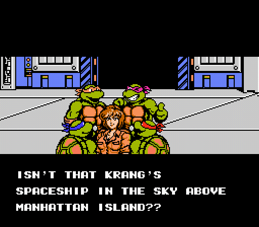 TMNT 3 - The Manhattan Project - NES - Gameplay screenshot
