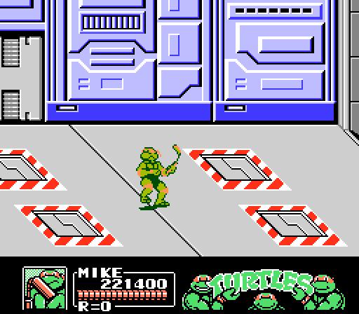 TMNT 3 - The Manhattan Project - NES - Gameplay screenshot