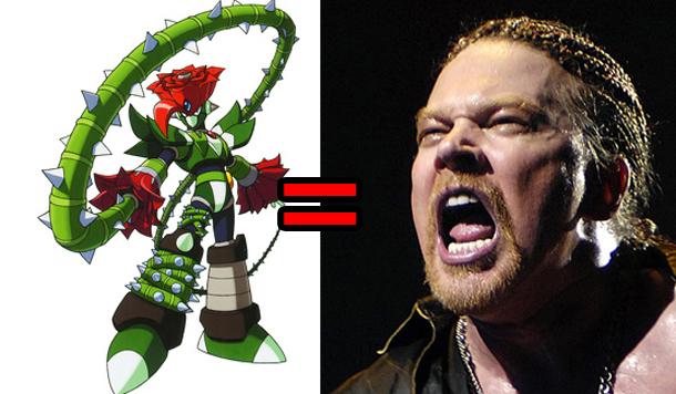 megaman x5- guns n roses