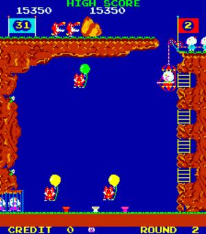Pooyan - arcade - gameplay screenshot
