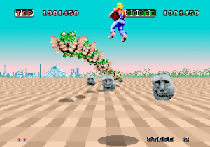 space_harrier - arcade - gameplay screenshot