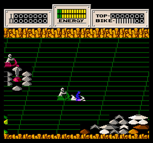 Seicross - NES - Gameplay screenshot