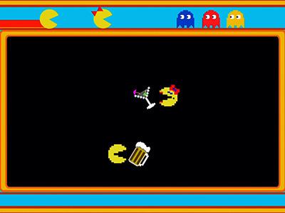 Robot chicken, pac-man, adult swim, cartoon network, ms. Pac-man, seth green, 8-bit, classic gaming, funny video game videos, retro gaming