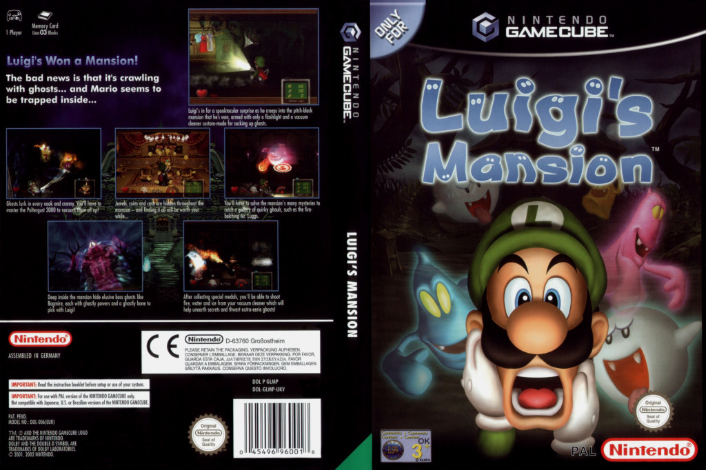 Luigis Mansion - Gamecube - Cover