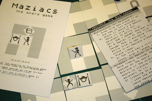 maziacs - the board game