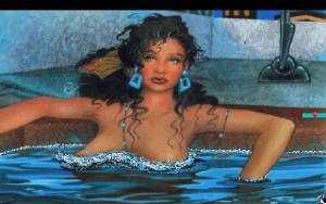 Hot tub babe from the 1991 version of Leisure Suit Larry I