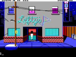 Outside Lefty's bar in Leisure Suit Larry